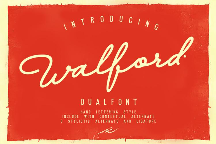 Walfords Font