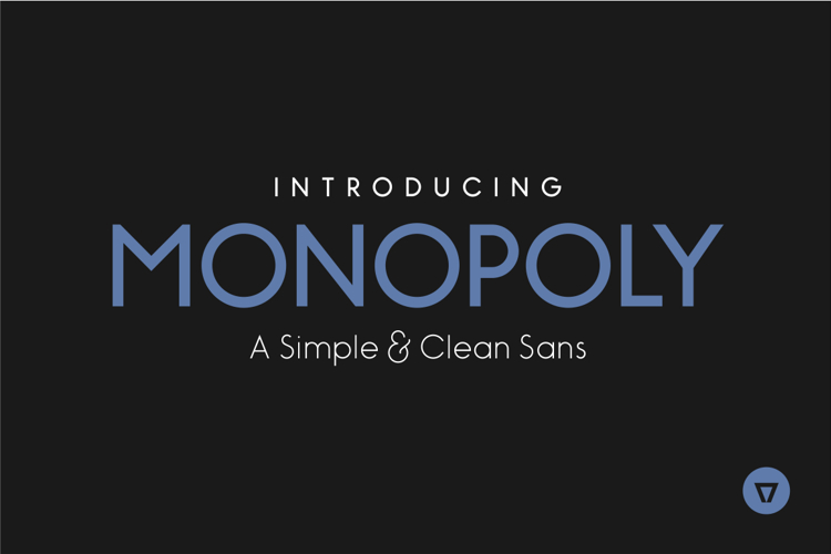 Monopoly Inline Font