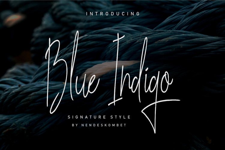 Blues Indigo Font