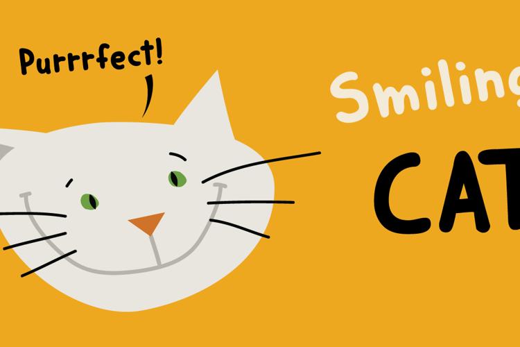 DK Smiling Cat Font
