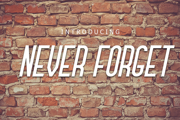 Never Forget Font