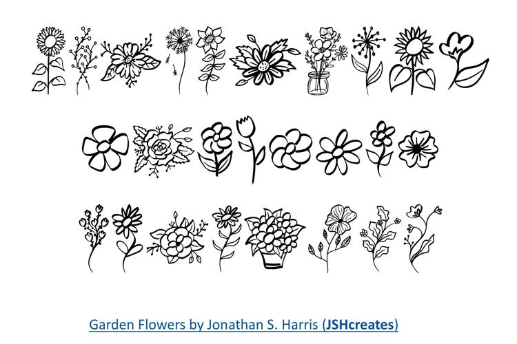 Garden Flowers Font