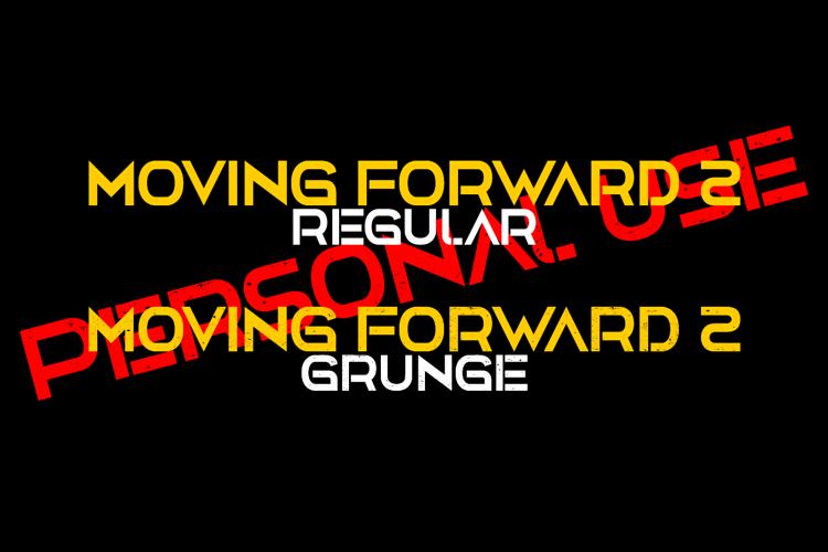 Moving Forward II Font