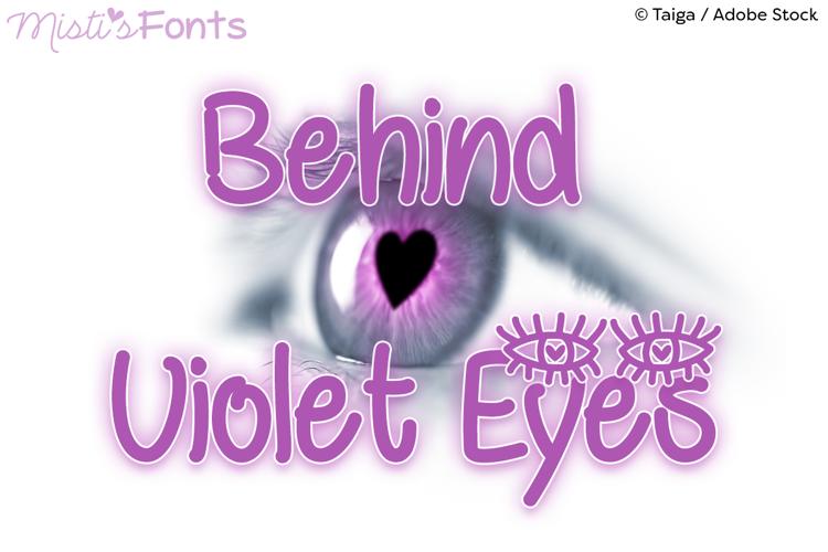 Behind Violet Eyes Font