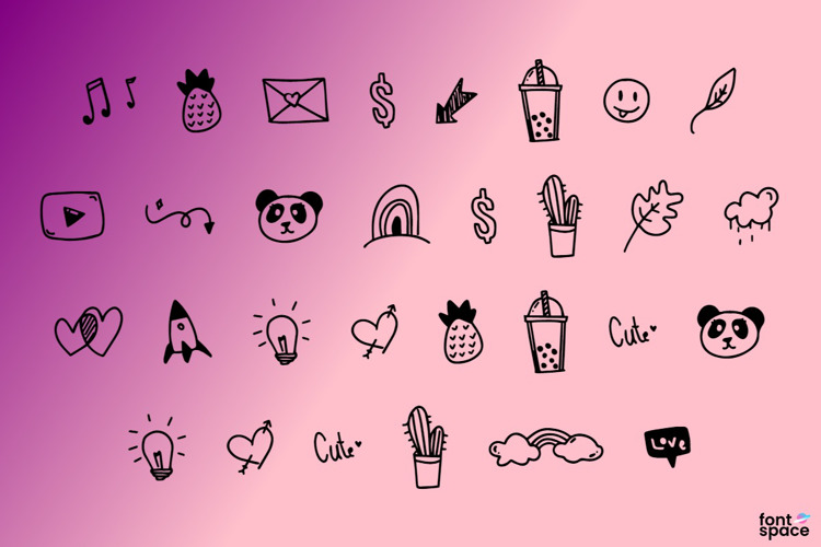 Hello Brownie Doodles Font