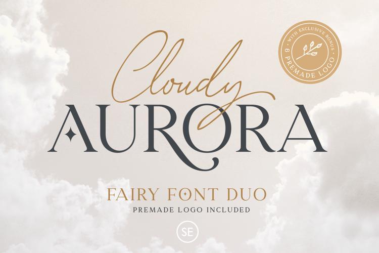 Cloudy Aurora Script Font