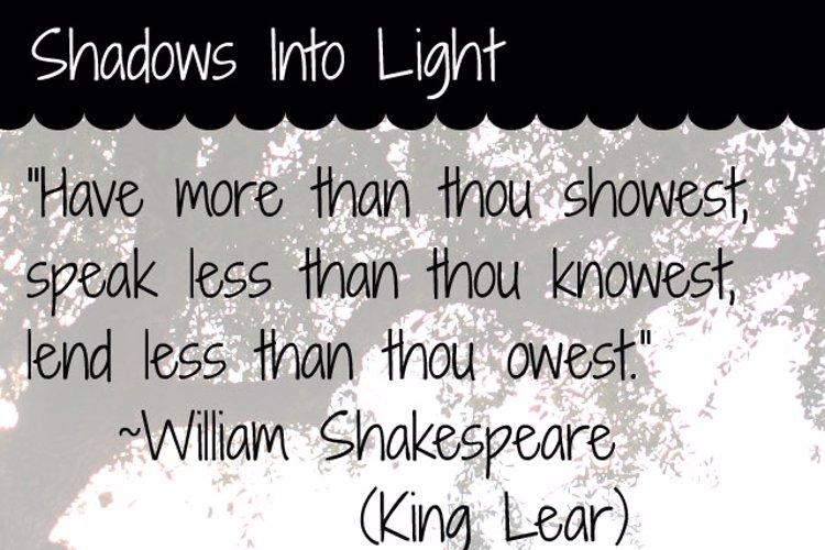 Shadows Into Light Font