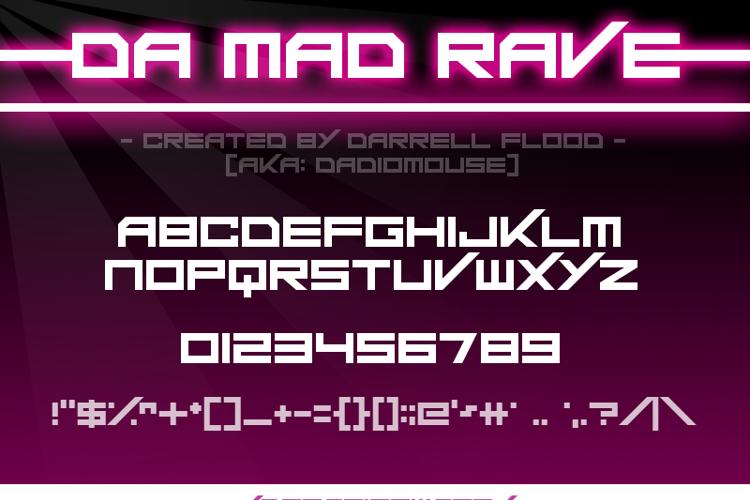 Da Mad Rave Font