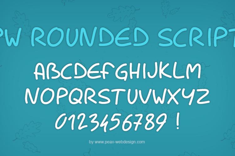 PWRoundedScript Font