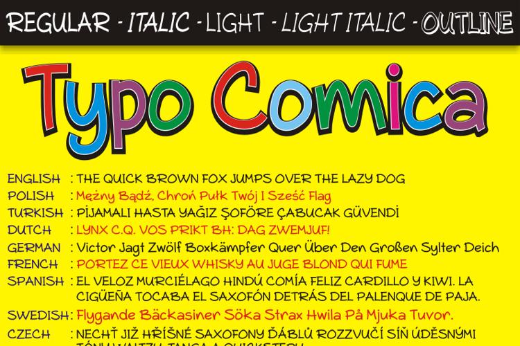 Typo Comica Font