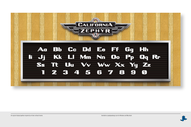 California Zephyr Font