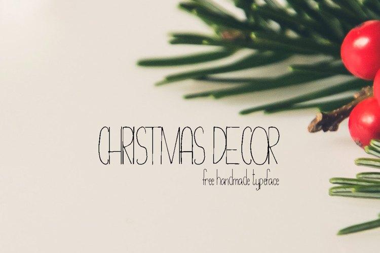 Christmas Decor Font