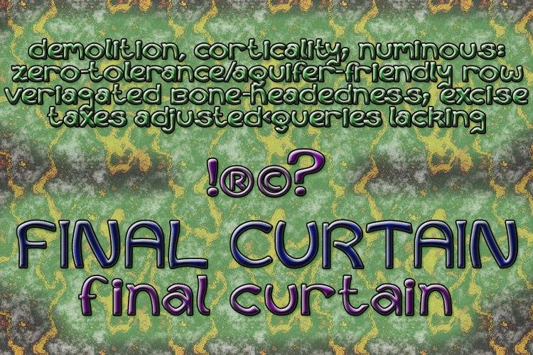 Curtains Final Font