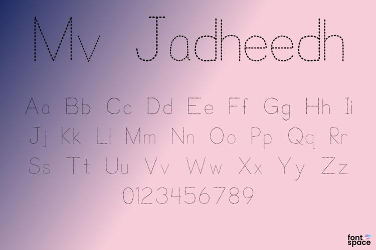 Mv Jadheedh Trace Font