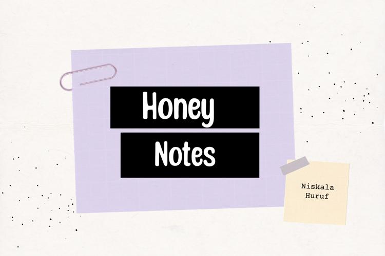 Honey Notes Font