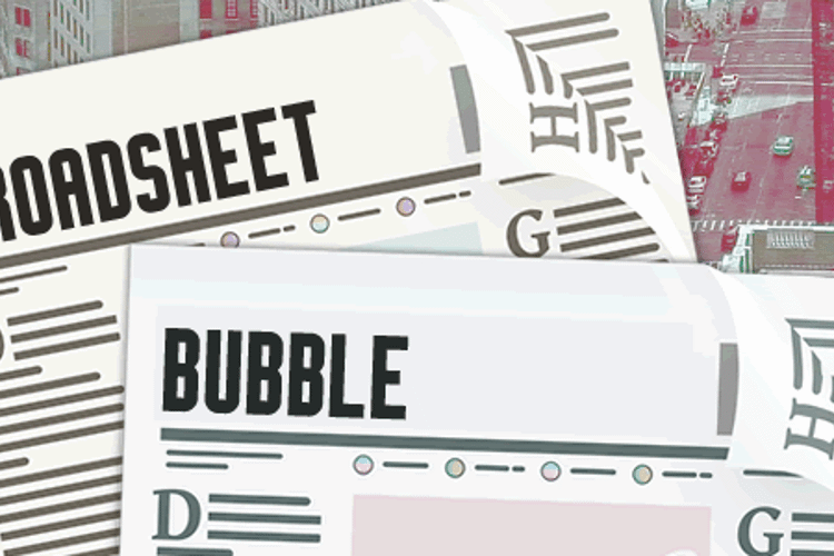 Broadsheet Bubble Font