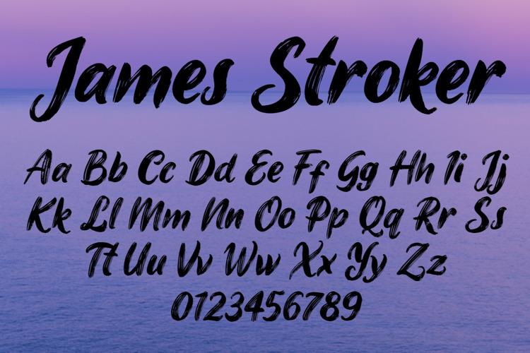 James Stroker Font