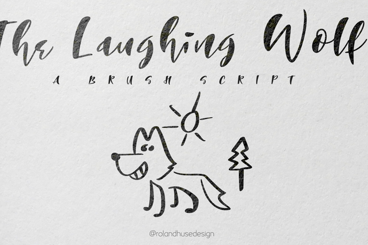 The Laughing Wolf. Font