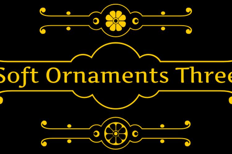 Soft Ornaments Three Font