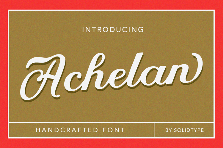 Achelan Script Font