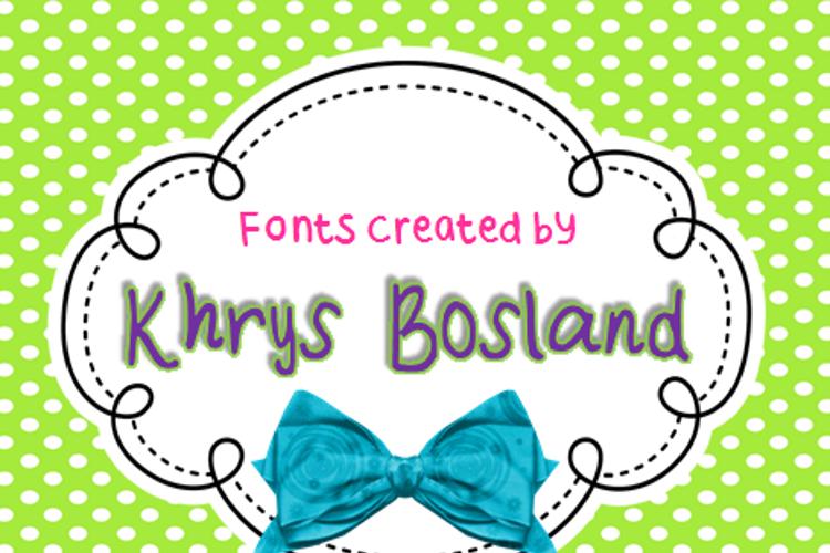 KBStripedPajamas Font