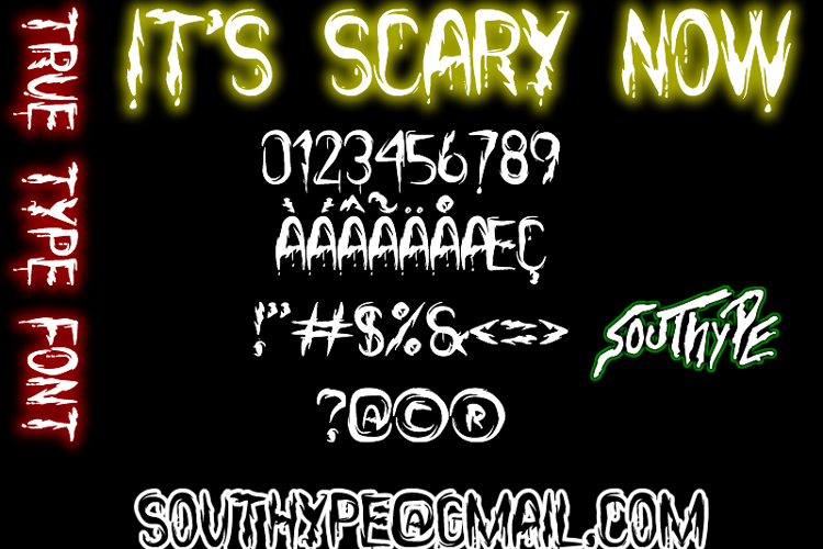 it's Scary Now St Font