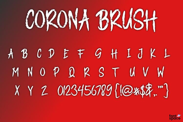 CORONA BRUSH Font