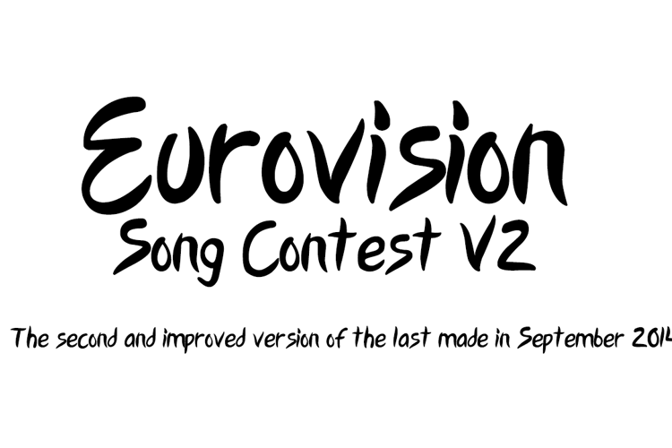 Eurovision Song Contest 2015 V2 Font