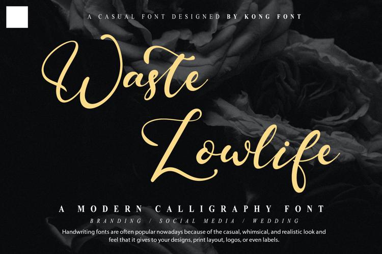 Waste Lowlife Font