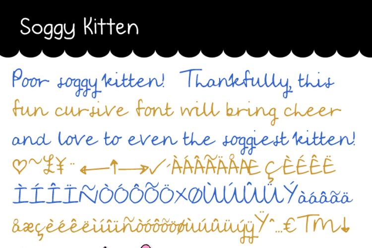 Soggy Kitten Font