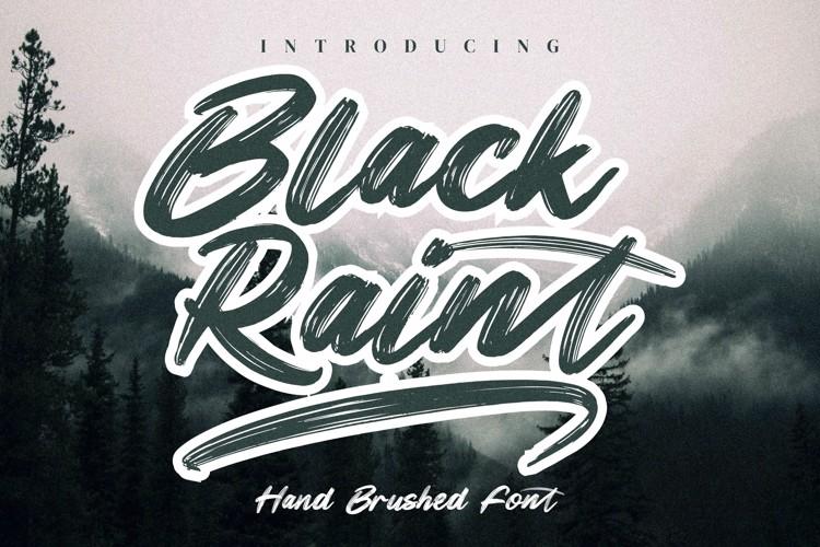 Black Raint Font