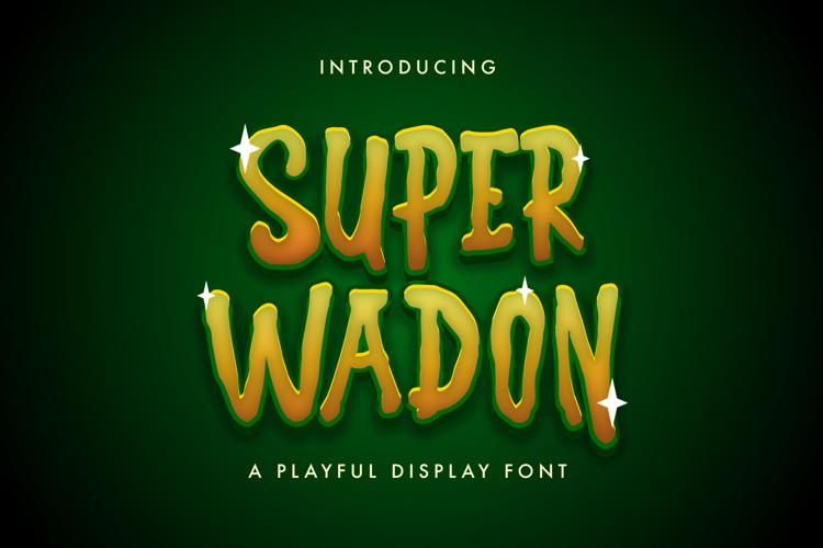 Super Wadon Font