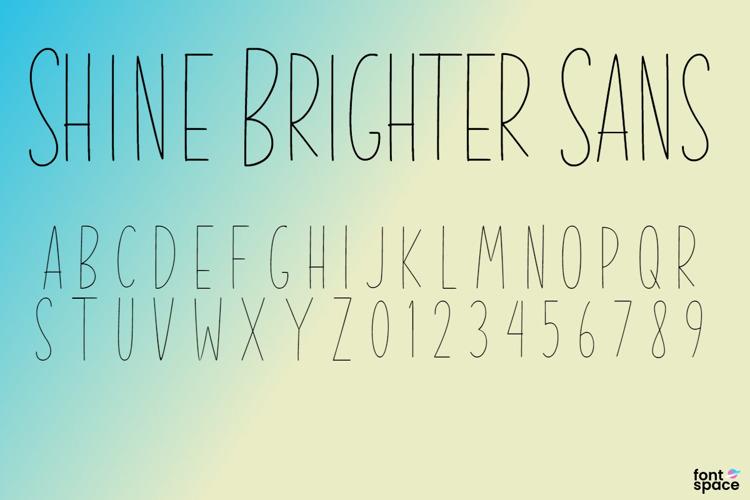 Shine Brighter Sans Font
