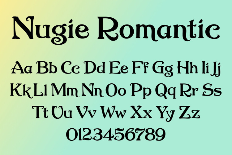 Nugie Romantic Font