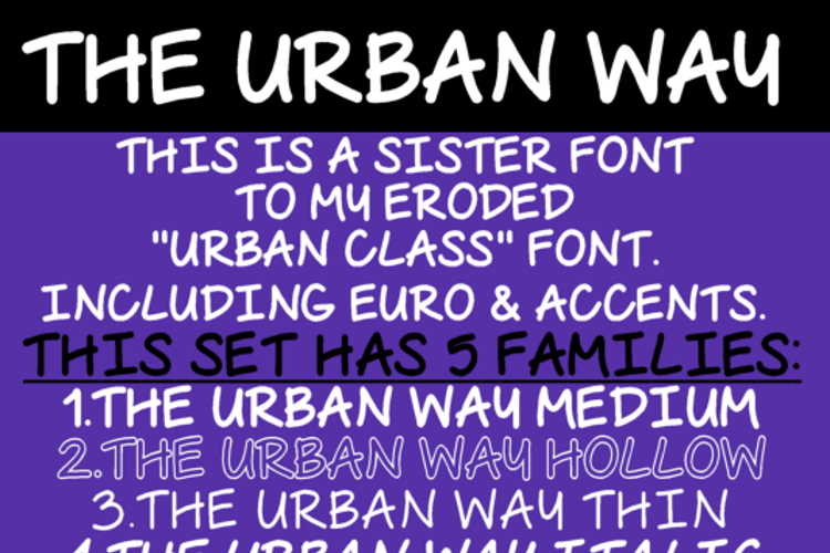 The Urban Way Font