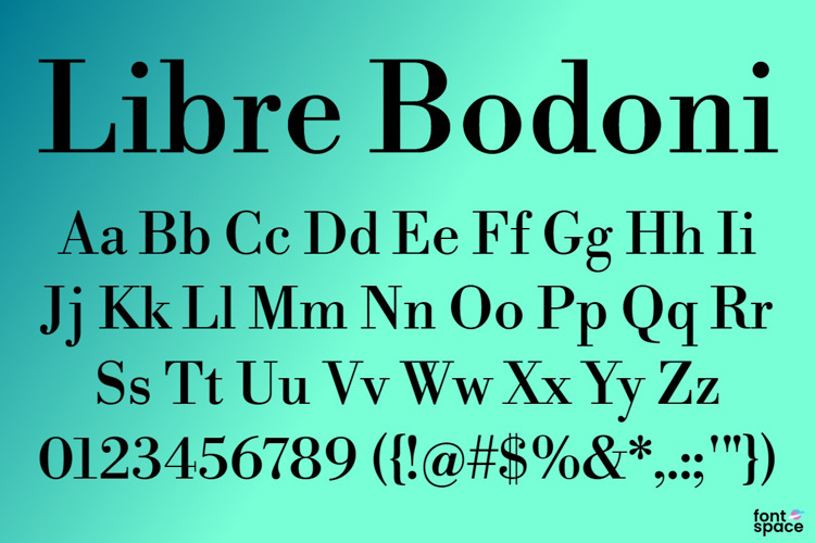 Libre Bodoni Font