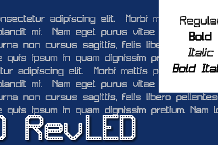 JD RevLED Font