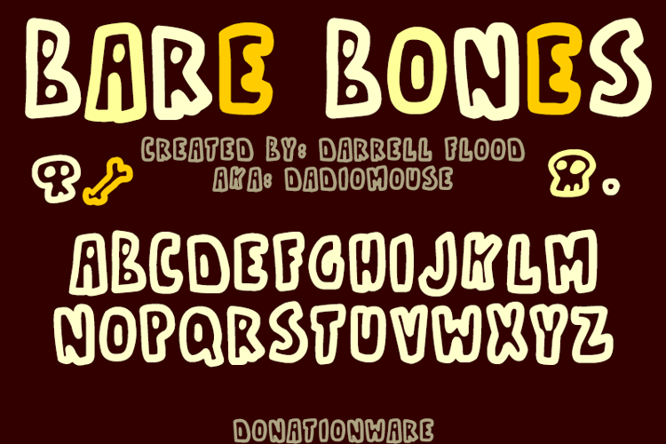 Bare Bones1 Font