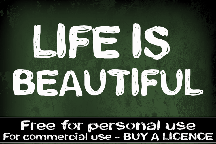 CF Life is beautiful Font