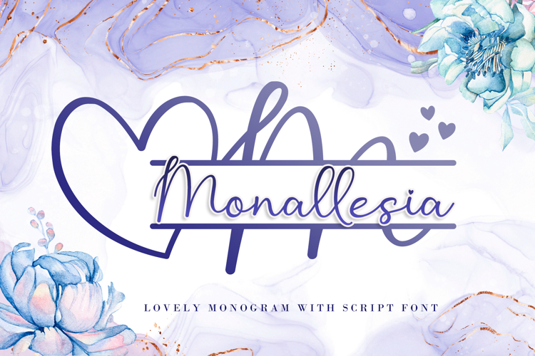 Monallesia Monogram Font