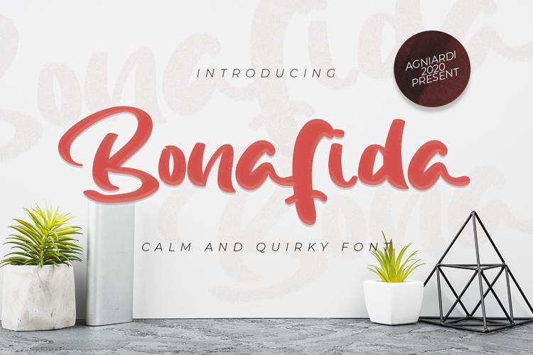 Bonafida Font