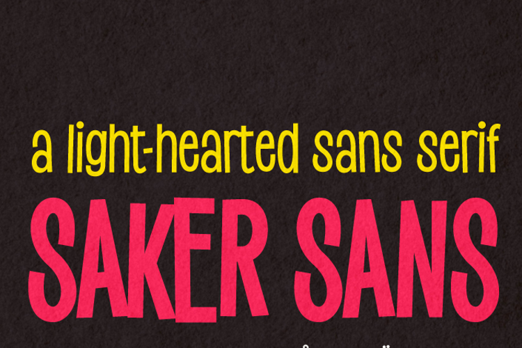 Saker Sans Font