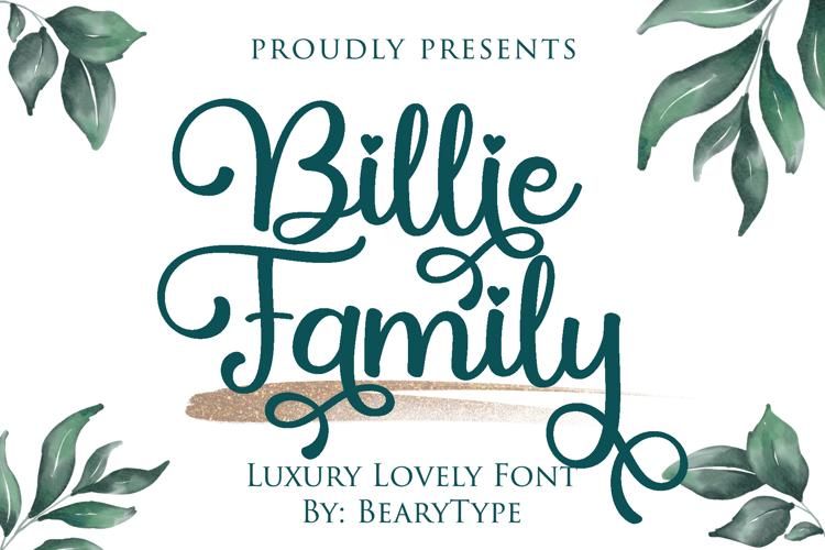 Billie Family Font