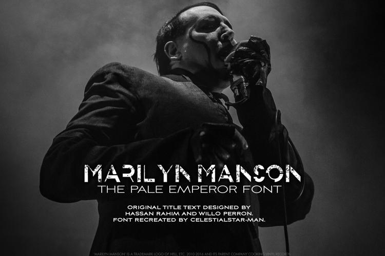 THE PALE EMPEROR Font