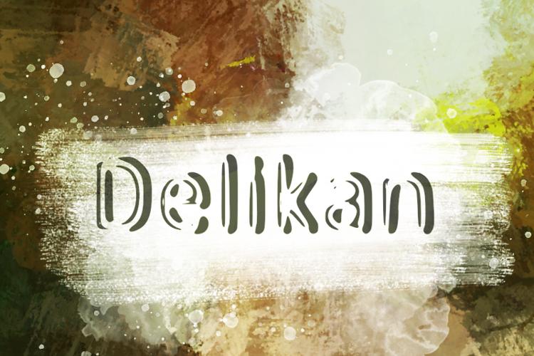 d Delikan Font
