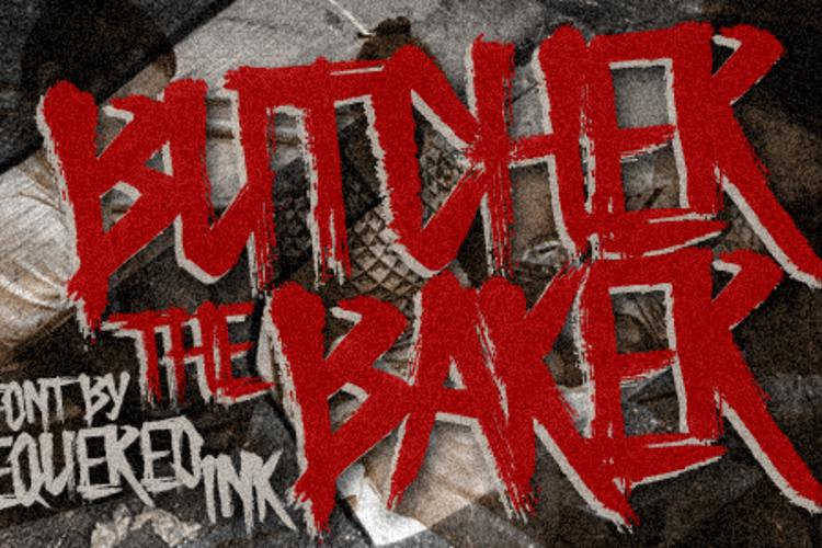 Butcher the Baker Font