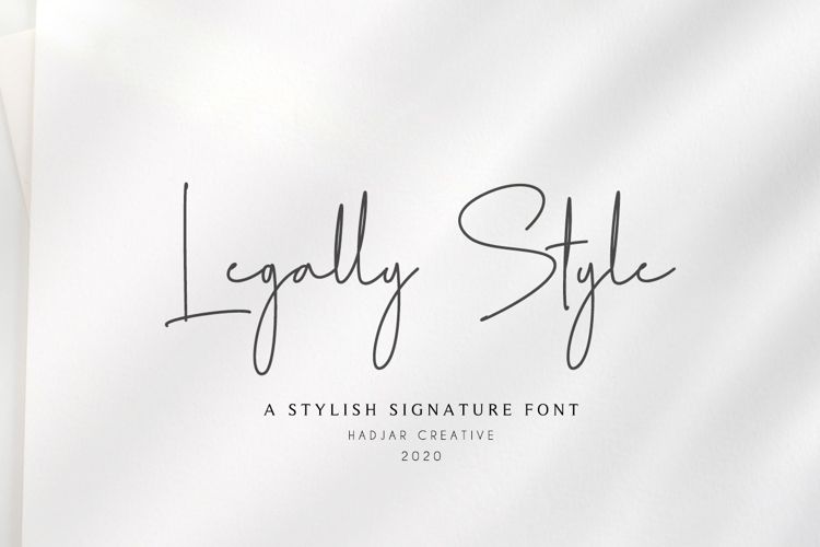 Legally Style Font