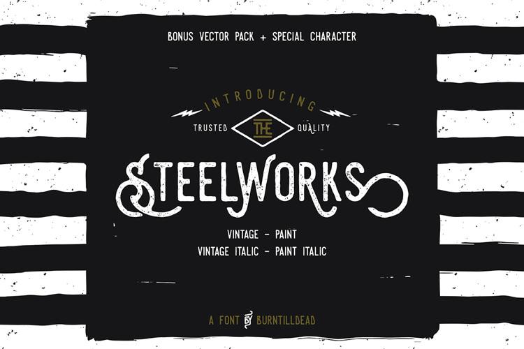 Steelworks Vintage Font