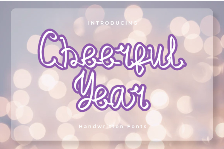 Cheerful Year Font