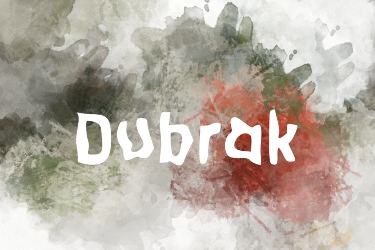 d Dubrak Font